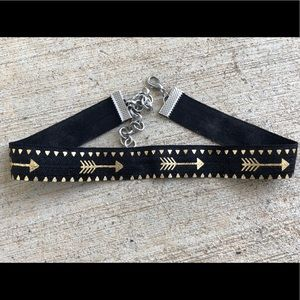 Black and Gold Arrow Choker